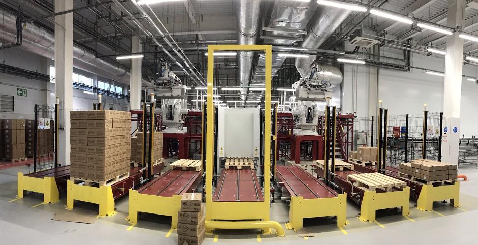 Промышленные роботы на производстве Unilever (в г.Тула)