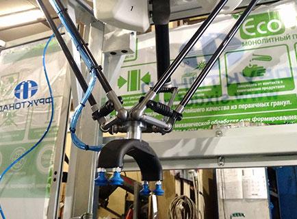 Вакукуумные захваты для сортировки продукции с помощью робота